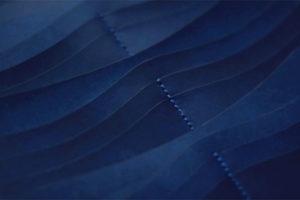 藍染レザー長財布