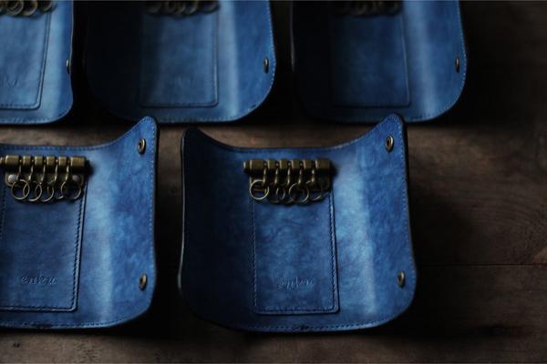 藍染革〔海光〕のキーケース