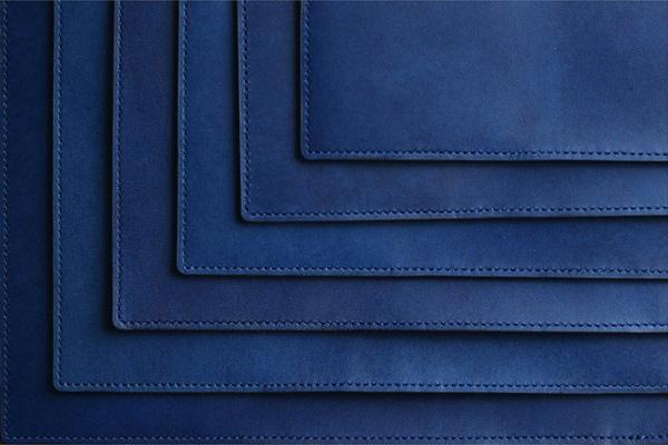 藍染レザーブックカバー