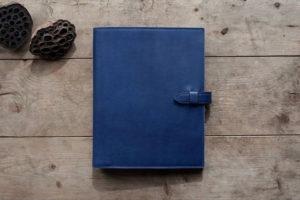 藍染革システム手帳カバー