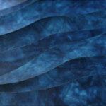 藍染レザー海光長財布