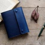 藍染革A6サイズノート手帳