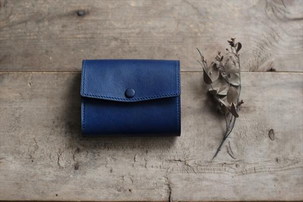 藍染レザーコンパクトミニ財布