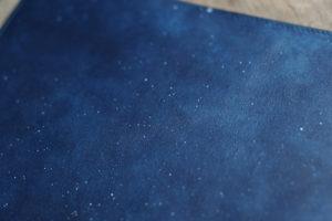 藍染革_星雲ブックカバー