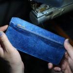 藍染レザー海光ミシン