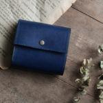 オーダーメイドの藍染革[migaki]コンパクト財布