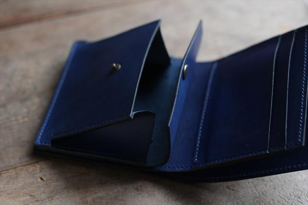 藍染革[migaki]コンパクト財布