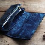 藍染革海光長財布