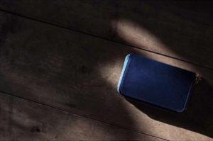 藍染レザーコインケース