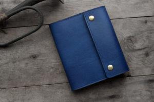 藍染レザー A6サイズノート手帳