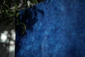 海光 藍染めレザー