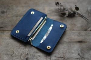 藍染革小さな財布
