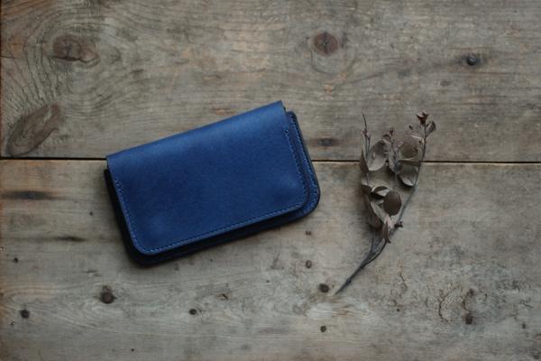 藍染革スモールウォレット