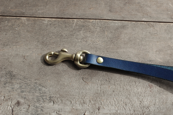 藍染革ストラップ金具