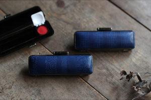 藍染レザー 印章ケース