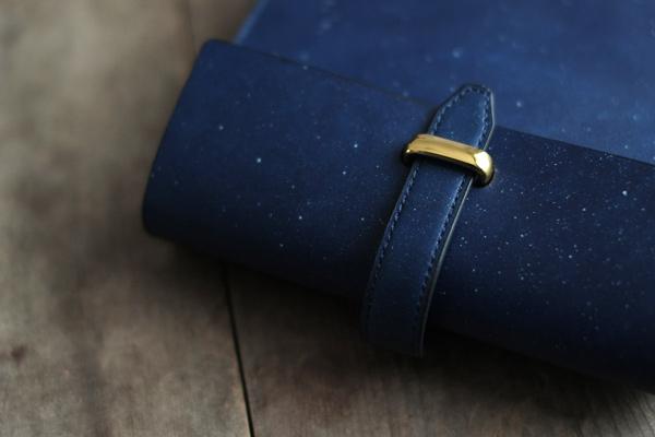 藍染レザー オーダーメイド手帳